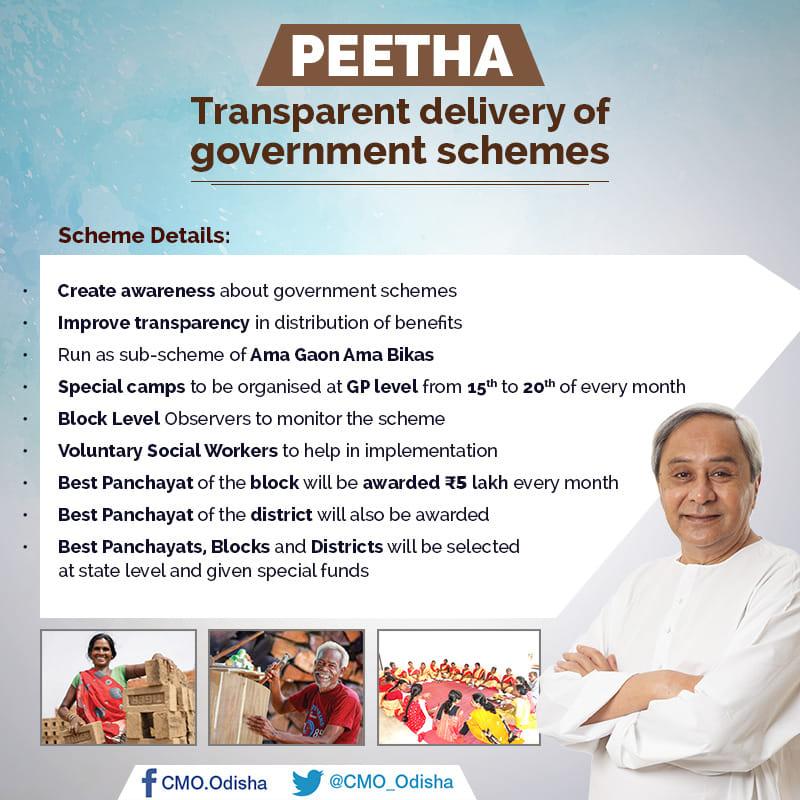 PEETHA Scheme-Odisha Initiative PEETHA Scheme Benefits & Details