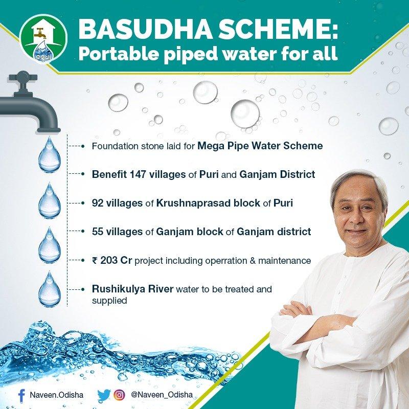 Basudha Scheme- Odisha Drinking Water Project Details, Benefits