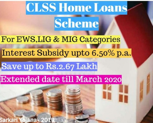 CLSS Scheme - Credit Linked Interest Subsidy Scheme Extended Till March 2020