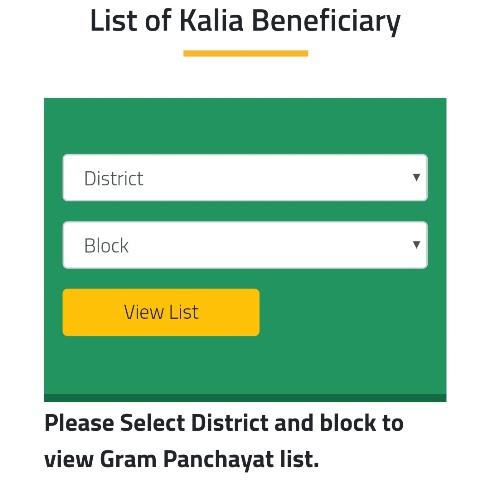 KALIA Scheme District,Block & Panchayat wise Pdf List