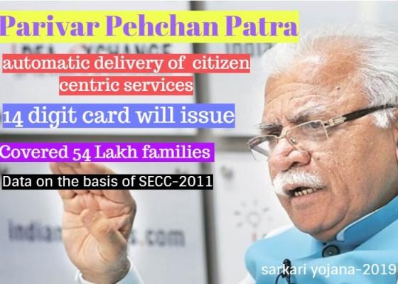 Parivar Pehchan Patra- Haryana 14 Digit Special Identity Card for Each Family
