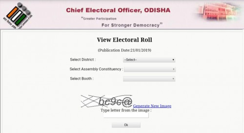 Odisha Voter List 2019- CEO Odisha Voter List With Photo@ceoorissa.nic.in