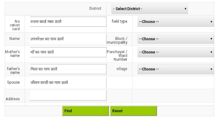 Rajasthan Ration Card New List- APL/BPL List