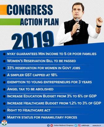 Congress Party Manifesto 2019- Download Manifesto @manifesto.inc.in