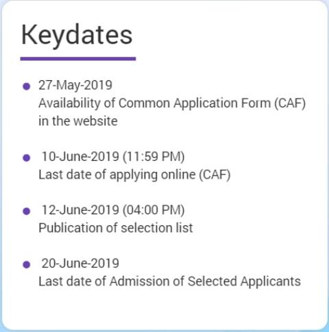 Key Dates of DHE