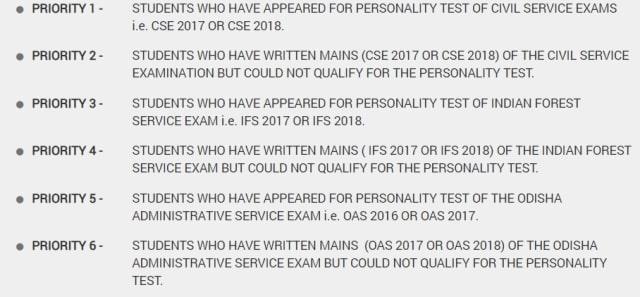 Eligibility under DHE UPSC Coaching Scheme