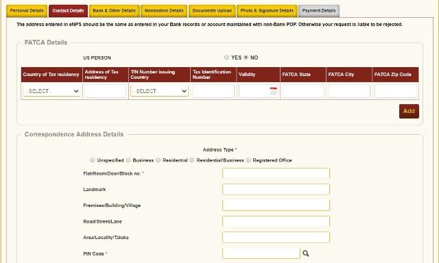 NPS Subscriber Registration Form