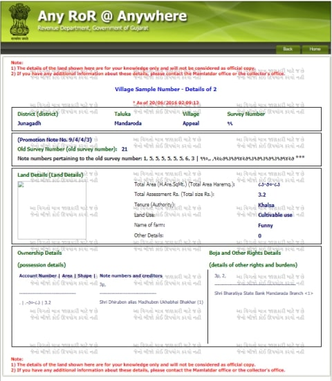 Gujarat Land Record Anyror