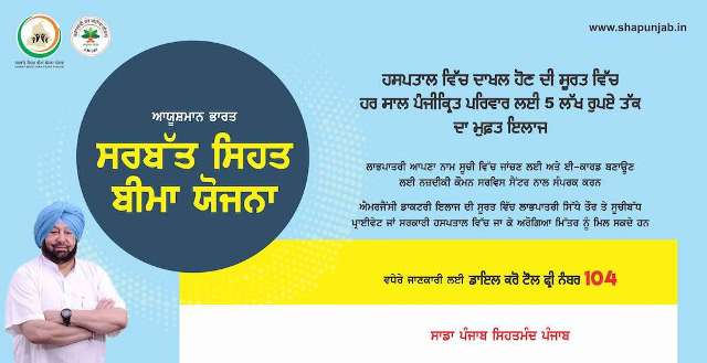 Punjab SSBY Beneficiary List Helpline Number