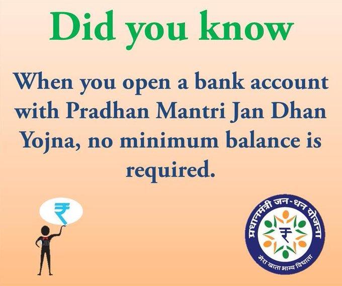 Pradhan Mantri Jan Dhan Yojana Application Form Download