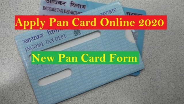 Apply Pan Card Online 2020