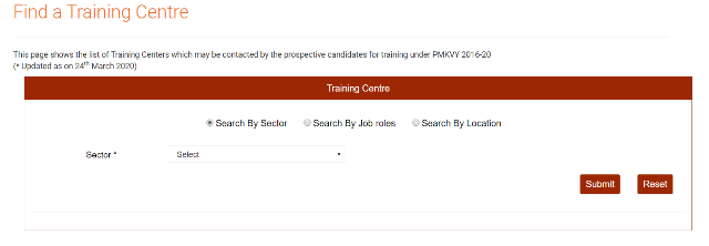 Find PMKVY Training Centre List