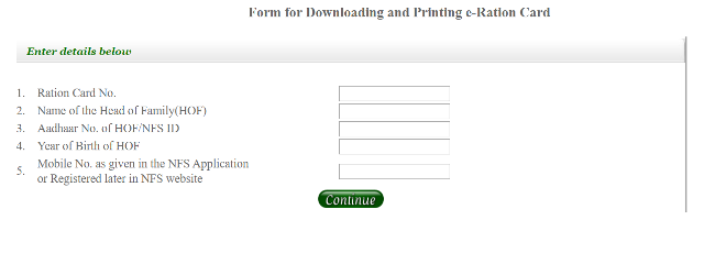 Download e- Ration Card