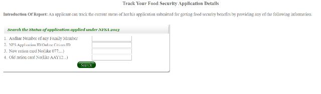 Delhi Ration Card Application Status