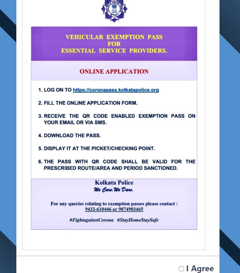 Curfew e-Pass Online Registration