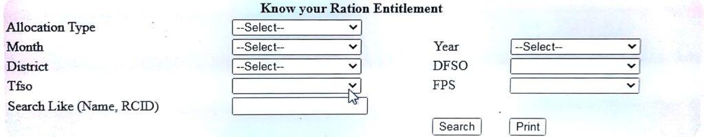 Know Your Ration Entitlement