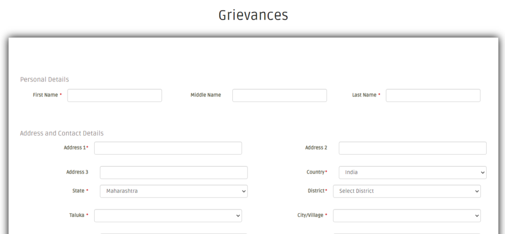 Maha swayam Grievance