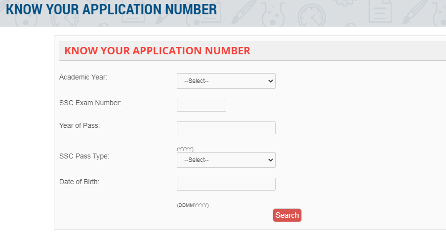 Know Your Application Number