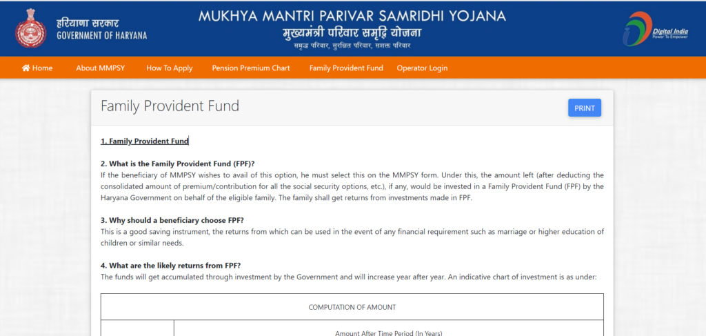 Family Provident Fund