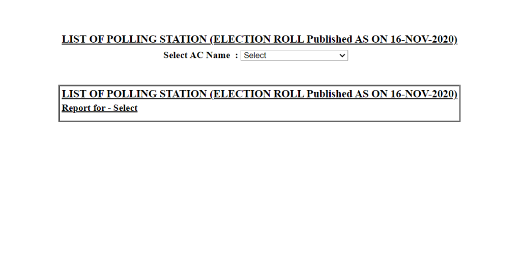 List of Poling Stations